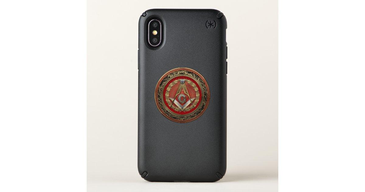 detailing 47bde 38ae5 [800] Master Mason - Gold Square & Compasses Speck iPhone Case | Zazzle.com