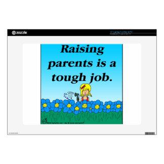 """800 Raising parents cartoon 15"""" Laptop Skin"""