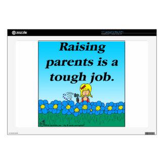 "800 Raising parents cartoon 17"" Laptop Decals"
