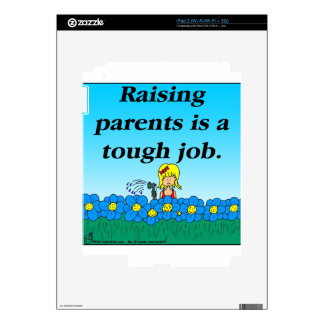 800 Raising parents cartoon iPad 2 Skin
