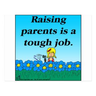 800 Raising parents cartoon Postcard