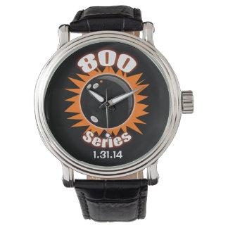 800 series del negro y naranja relojes