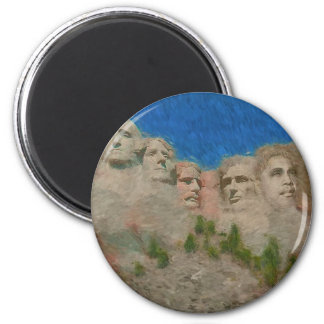800px-1024_Mt_Rushmore_Painting Refrigerator Magnet
