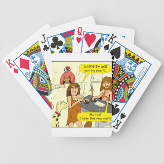 801 still writing year 0 on check cartoon bicycle playing cards