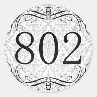 802 Area Code Classic Round Sticker