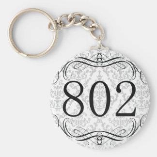 802 Area Code Key Chain