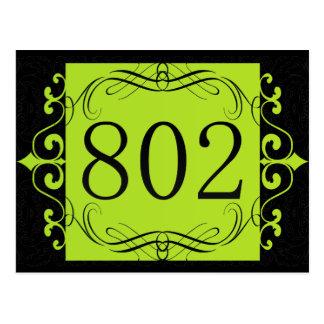 802 Area Code Post Card