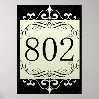 802 Area Code Print