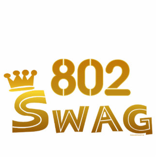 802 Area Code Swag Photo Statuette