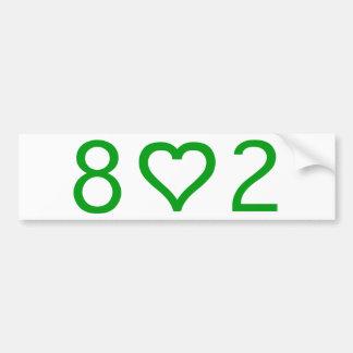 802 Bumper Sticker