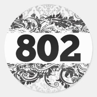 802 CLASSIC ROUND STICKER
