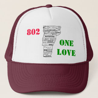 """802 One Love"" Vermont trucker hat *Customizable!*"