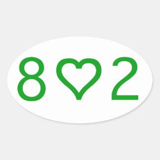 802 pegatinas ovales