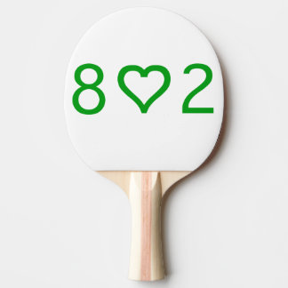 802 Ping Pong Paddle, Red Rubber Back