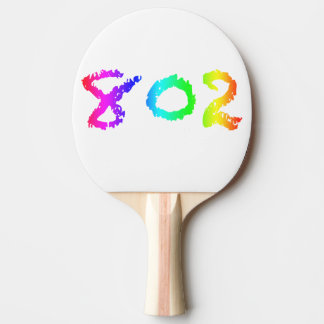 802 Ping Pong Paddle, Red Rubber Back Ping Pong Paddle