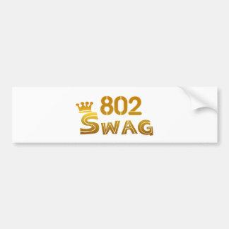 802 Vermont Swag Bumper Sticker