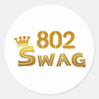 802 Vermont Swag Classic Round Sticker