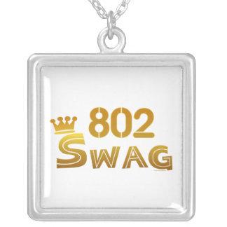 802 Vermont Swag Square Pendant Necklace