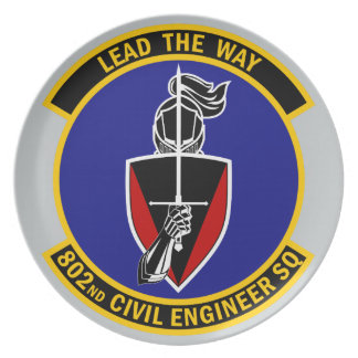 802nd Civil Engineer Squadron - Lead The Way Dinner Plate