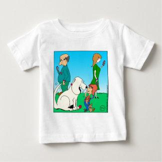 803 dog meets boy cartoon baby T-Shirt