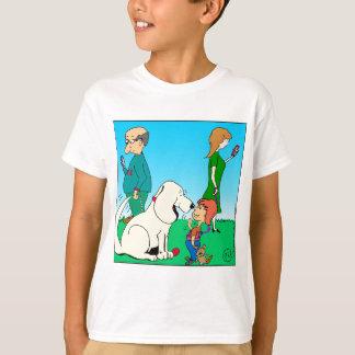 803 dog meets boy cartoon T-Shirt