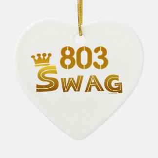 803 South Carolina Swag Ceramic Ornament