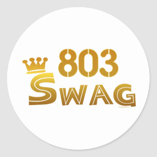 803 South Carolina Swag Classic Round Sticker