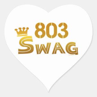 803 South Carolina Swag Heart Sticker