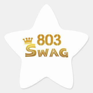 803 South Carolina Swag Star Sticker