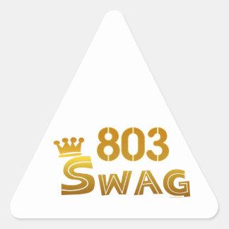 803 South Carolina Swag Triangle Sticker