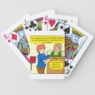 804 greens fee cartoon bicycle playing cards