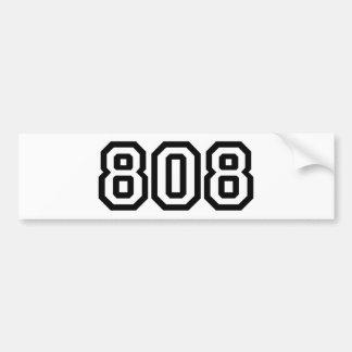 808 CAR BUMPER STICKER