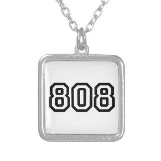 808 SQUARE PENDANT NECKLACE