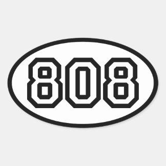 808 PEGATINA OVALADA