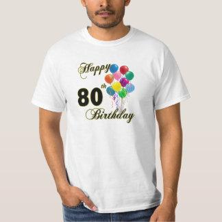 80.a camiseta feliz del cumpleaños remeras