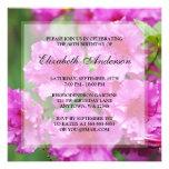 80.a fiesta de cumpleaños de las flores rosadas de invitacion personal