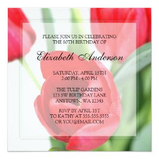80.a fiesta de cumpleaños de los tulipanes rojos