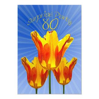 80.a invitación del fiesta de sorpresa del invitación 12,7 x 17,8 cm