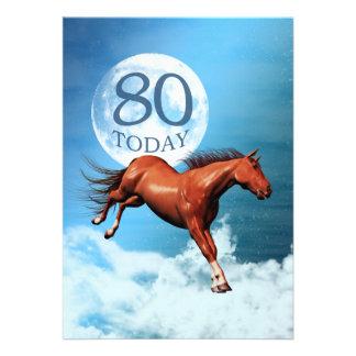 80 a invitación del fiesta del caballo del alcohol
