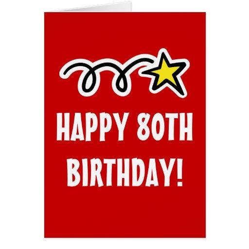 80.a tarjeta de cumpleaños feliz para los hombres