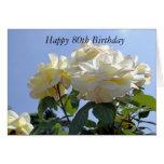 80.a tarjeta feliz de la flor del cumpleaños