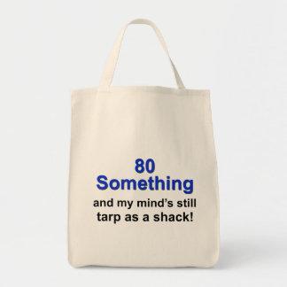 80 algo… bolsa tela para la compra