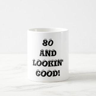 80 And Lookin' Good Eyeballs Birthday Age Coffee Mug