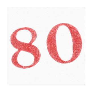 80 años de aniversario impresiones de lienzo