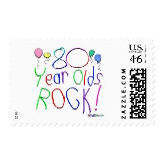 ¡80 años de la roca! sellos