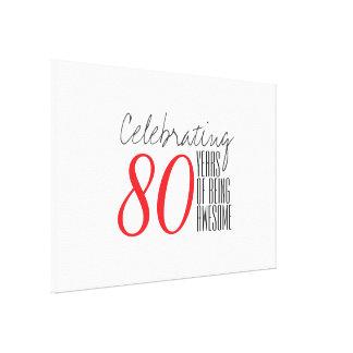 80 años de ser impresionante lona envuelta para galerias