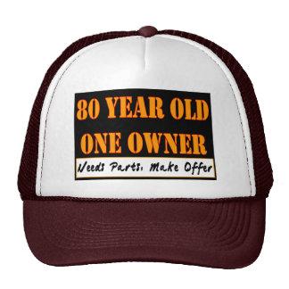 80 años, un dueño - las piezas de las necesidades, gorras de camionero