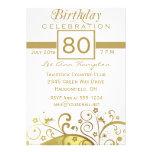 80.as - 89.as invitaciones de la fiesta de cumplea invitación