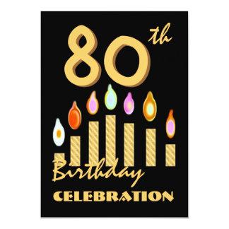 80.as - 89.as velas del oro de la invitación de la