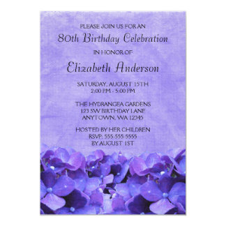 """80.as invitaciones de la fiesta de cumpleaños de invitación 5"""" x 7"""""""